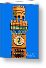 Baltimore Clock Tower Greeting Card