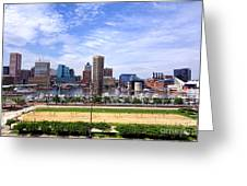 Baltimore Inner Harbor Beach - Generic Greeting Card by Olivier Le Queinec