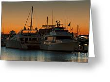 Baltimore Inner Harbor Marina At Dawn I Greeting Card