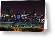 Baltimore Inner Harbor Skyline Night Panorama Greeting Card