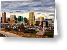 Baltimore Inner Harbor Skyline Panorama Greeting Card