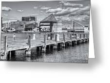 Baltimore Inner Harbor Skyline Vi Greeting Card