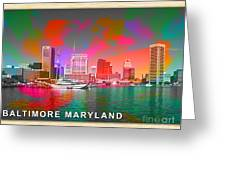 Baltimore Maryland Skyline Greeting Card