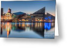 Baltimore National Aquarium At Dawn I Greeting Card