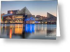 Baltimore National Aquarium At Dawn IIi Greeting Card