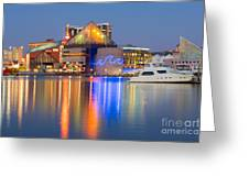 Baltimore National Aquarium At Twilight I Greeting Card