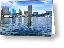 Baltimore On The Water Greeting Card