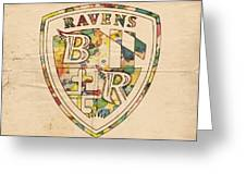 Baltimore Ravens Logo Art Greeting Card