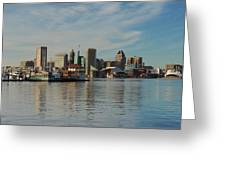 Baltimore Skyline Across The Harbor Greeting Card