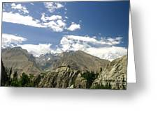 Baltit Fort In Hunza In Pakistan Greeting Card