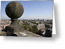 Balustrade And Views From The Westerkerk In Amsterdam Netherlands Greeting Card
