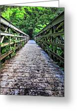 Bamboo Forest Bridge Greeting Card