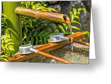 Bamboo Spout Greeting Card
