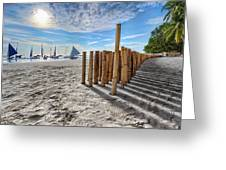 Bamboo Stripe Greeting Card by Mario Legaspi