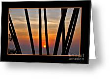 Bamboo Sunset - Black Frame Greeting Card