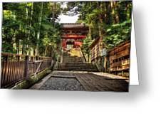 Bamboo Temple Greeting Card