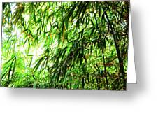 Bamboo Tree Greeting Card