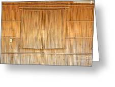 Bamboo Wall And Shutters Greeting Card