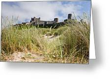 Bamburgh Castle From The Dunes Greeting Card