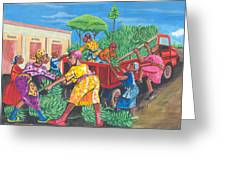 Banana Delivery In Cameroon 01 Greeting Card