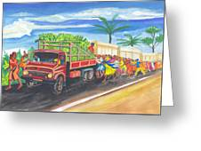 Banana Delivery In Cameroon 02 Greeting Card