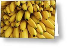 Bananas At The Saturday Market, San Greeting Card