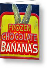 Bananas Greeting Card by Skip Willits