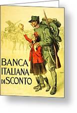 Banca Italiana Di Sconto, 1917 Greeting Card