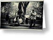 Band On Union Square New York City Greeting Card