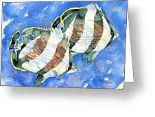 Banded Butterflyfish Greeting Card