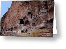 Bandelier Cave Lineup Greeting Card