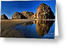 Bandon Low Tide Reflections Greeting Card