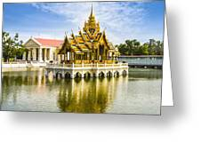 Bang Pa In Palace Thailand Greeting Card by Colin and Linda McKie