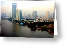 Bangkok In Early Morning Light Greeting Card