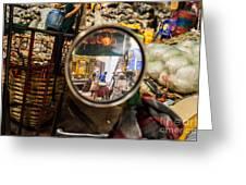 Bangkok Market Scene I Greeting Card