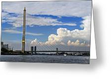 Bangkok - Rama Viii Bridge Greeting Card