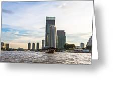 Bangkok Towers Greeting Card