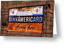 Bankamericard Welcome Here Greeting Card