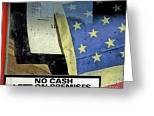 Bankrupt America Greeting Card by Joe Jake Pratt