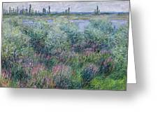 Banks Of The Seine At Vetheuil Greeting Card