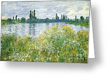 Banks Of The Seine Vetheuil Greeting Card