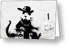 Banksy Boombox  Greeting Card