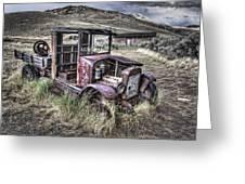 Bannack Ghost Town Truck - Montana Greeting Card