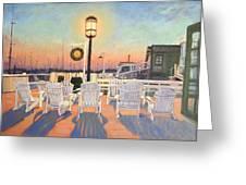 Bannister's Wharf Newport Ri Greeting Card by Betty Ann Morris