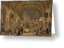 Banquet In The Baronial Hall, Penshurst Greeting Card