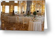 Banquet Room Summer Palace St Petersburg Russia Greeting Card
