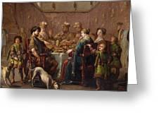 Banquet Scene Greeting Card