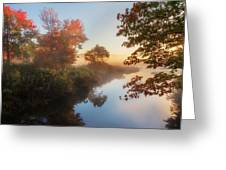 Bantam River Sunrise Greeting Card by Bill Wakeley