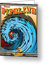 Banzai Pipeline Hawaii Surfing Greeting Card by Larry Butterworth
