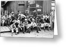 Bar Front, 1940 Greeting Card